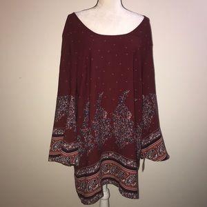 Xhilaration XXL Boho Hippi long sleeve dress shirt